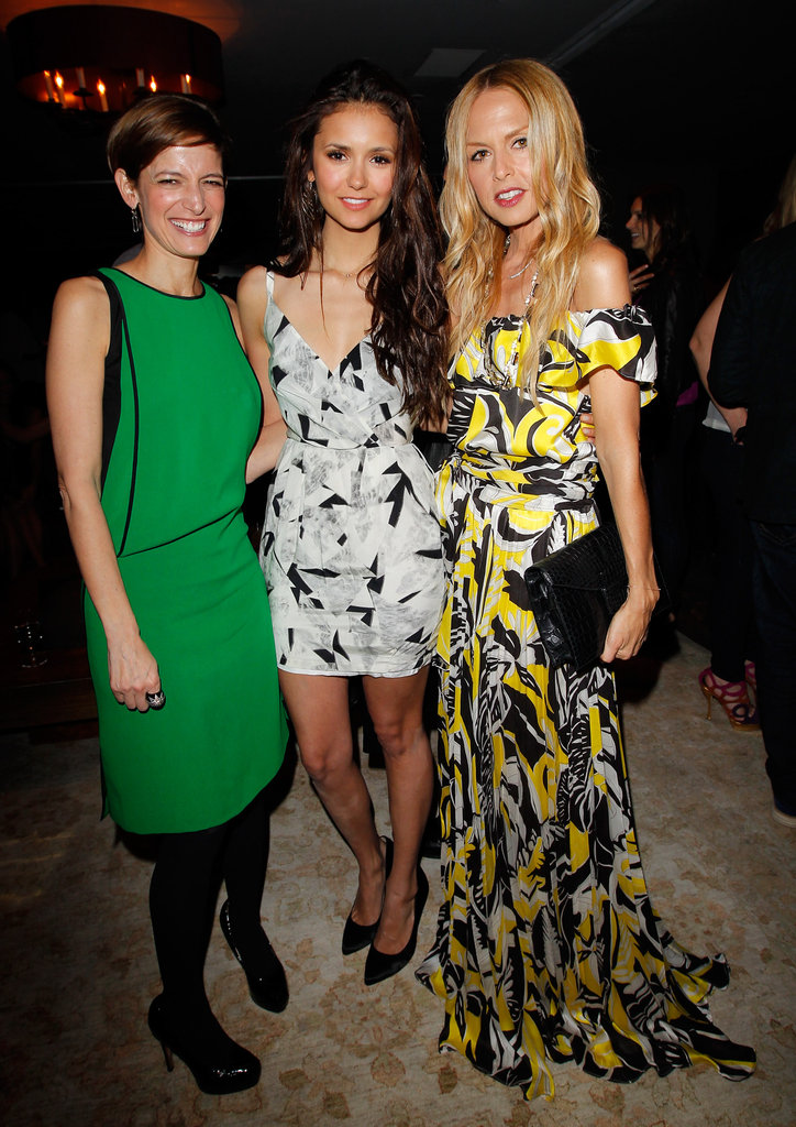 Nina Dobrev, Rachel Zoe, and Cindi Leive all hung out together at Glamour's party in West Hollywood.