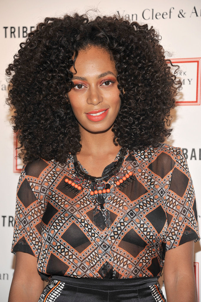 Solange Knowles attended the 2012 Tribeca Ball in NYC.