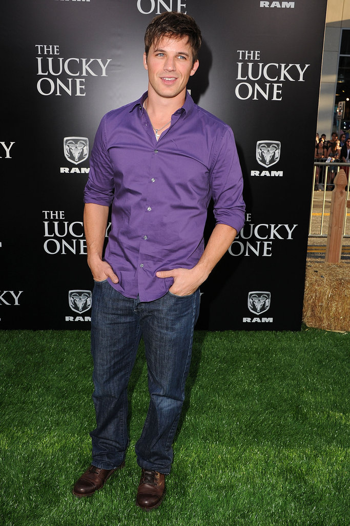 Matt Lanter attended The Lucky One premiere in LA.
