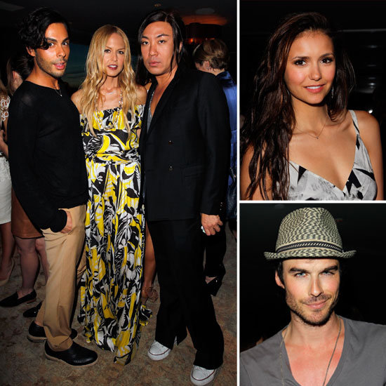 Nina Dobrev and Ian Somerhalder Toast Glamour's New Book With Rachel Zoe