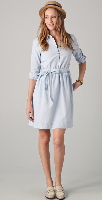 This chambray dress has an effortless French-girl feel.  Madewell Margot Chambray Dress ($98)