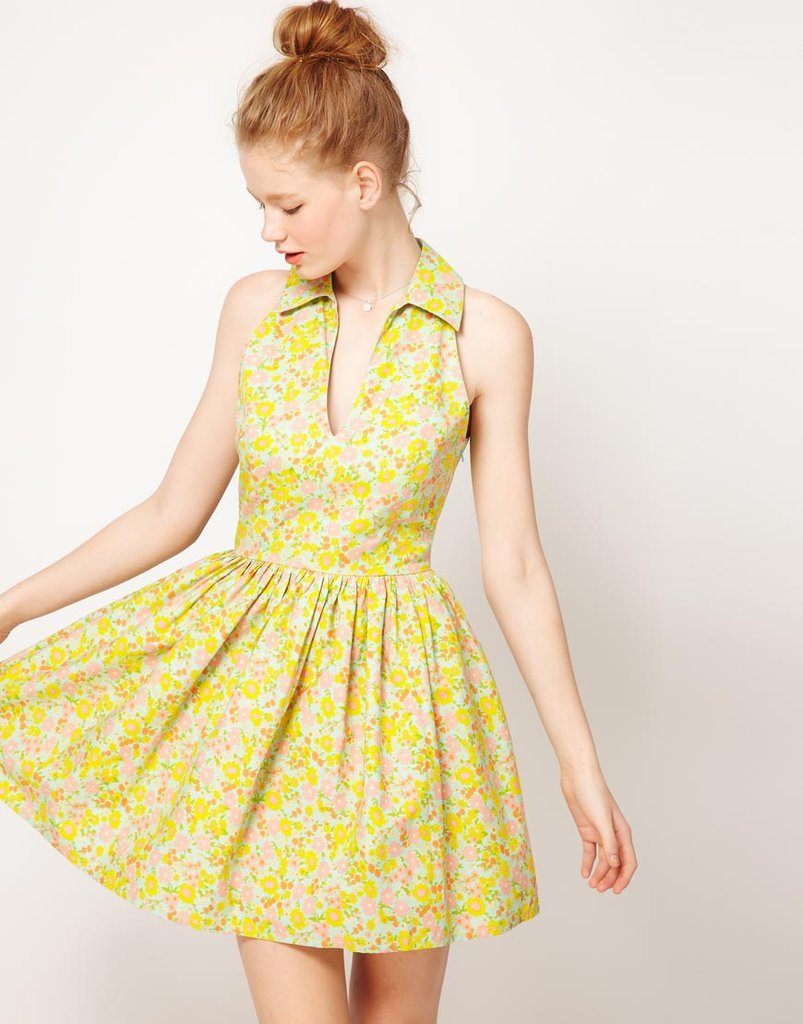 A sweet floral sundress is the epitome of Spring.  ASOS Printed Collared Dress ($45)