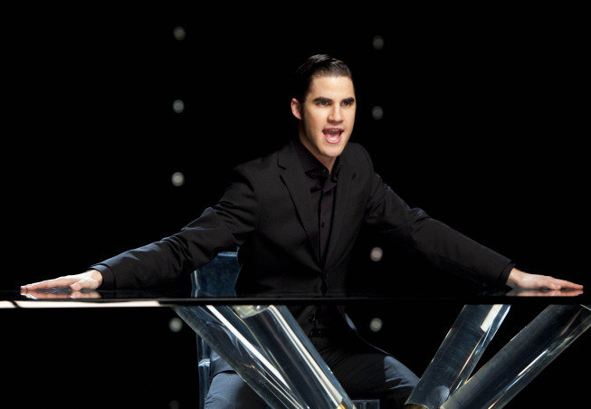 Darren Criss as Blaine on Glee.