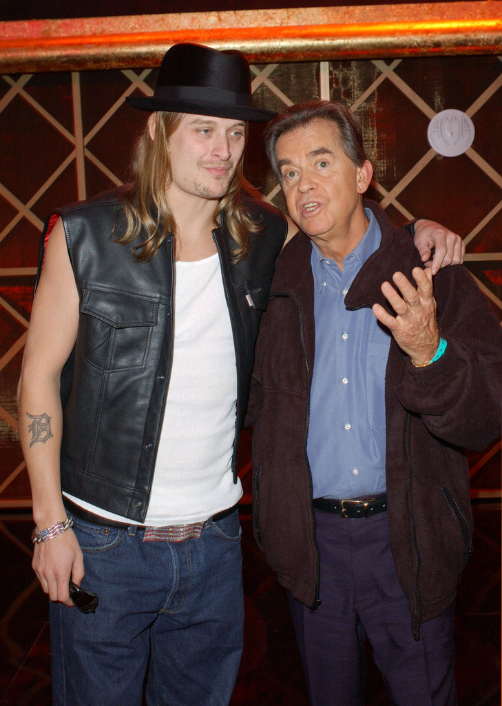 Dick Clark and Kid Rock hung out in 2002.