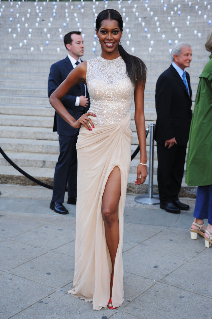 Jessica White posed at the Vanity Fair Party at the 2012 Tribeca Film Festival.