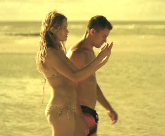 Channing Tatum takes a walk on the beach.