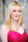 Dakota Fanning wore a headpiece to attend the Vanity Fair Party at the 2012 Tribeca Film Festival.