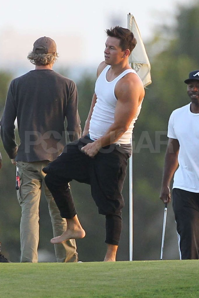 Mark Wahlberg shed his pants on the set of Pain and Gain in Miami.