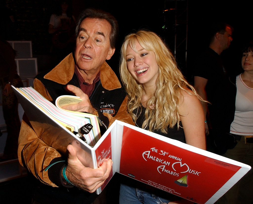 Dick Clark and Hilary Duff met up in 2003.