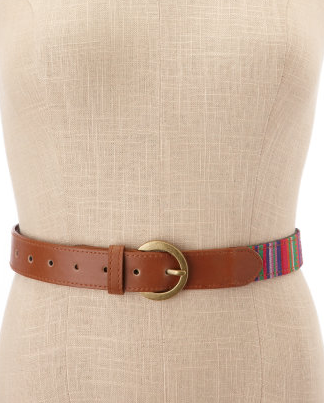 The multicolored woven detail on the belt is perfect for those looking for just a small touch of tribal allure. Just remember to cinch it around a dress or tuck your shirt for maximum visibility. Gianni Bini Jordan Tribal-Print Jacket ($31)