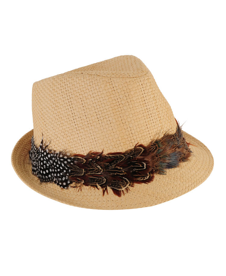 The pinched pronto and cool feather-trimmed crown is a fierce hippie-inspired accent. Forever21 Feather Trimmed Fedora ($13)