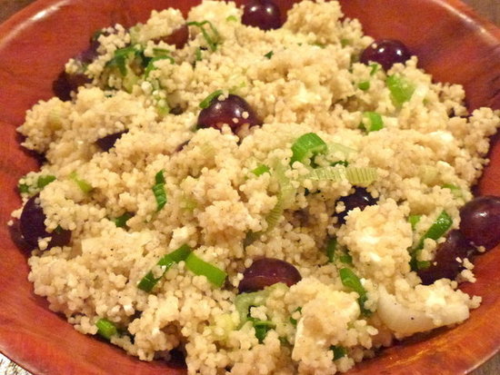 Cous Cous with Grapes, Feta & Spring Onion by Zesty Baking