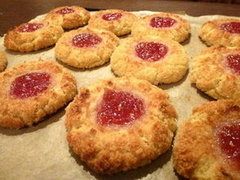 Coconut & Almond Thumbprint Cookies