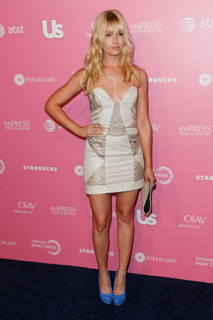 Beth Behrs of 2 Broke Girls attended the Us Hot Hollywood party.