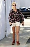 Gwyneth Paltrow wore a floral shirt with moccasins out in LA.