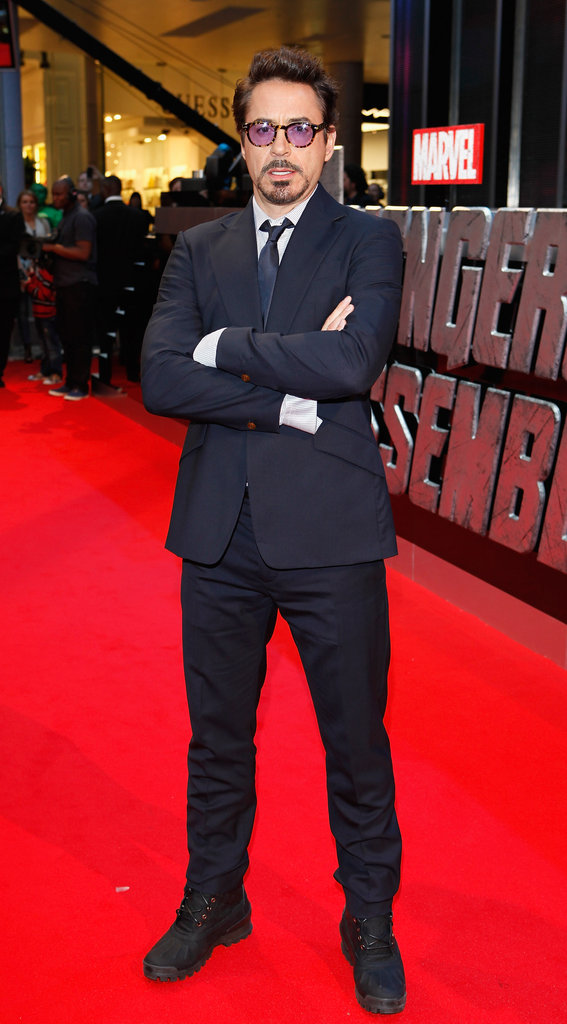 Robert Downey Jr. attended the premiere of The Avengers in London.