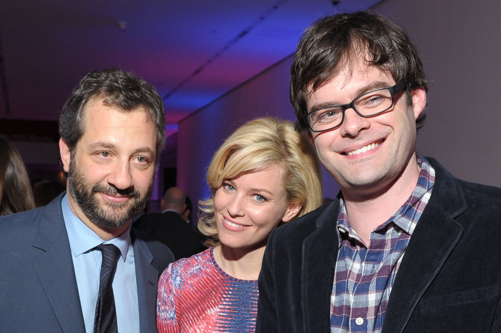 Judd Apatow, Elizabeth Banks, and Bill Hader hung out together at the premiere party for  The Five Year Engagement.