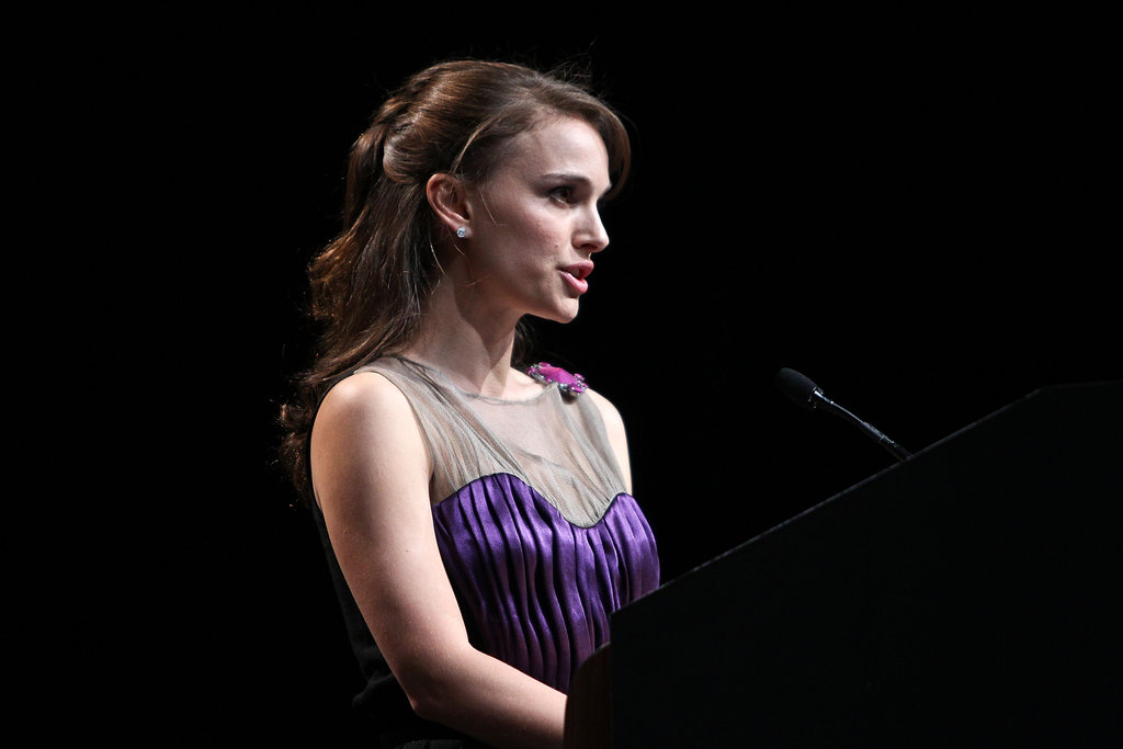 Natalie Portman at the US Holocaust Memorial Museum's 2012 Elie Wiesel National Tribute Dinner.