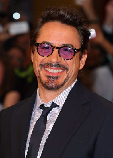 Robert Downey Jr. smiled at the premiere of The Avengers in London.