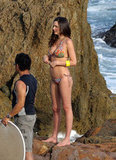 Miranda Kerr showed off her postbaby body in April 2011 while modeling for a Victoria's Secret shoot in Malibu.