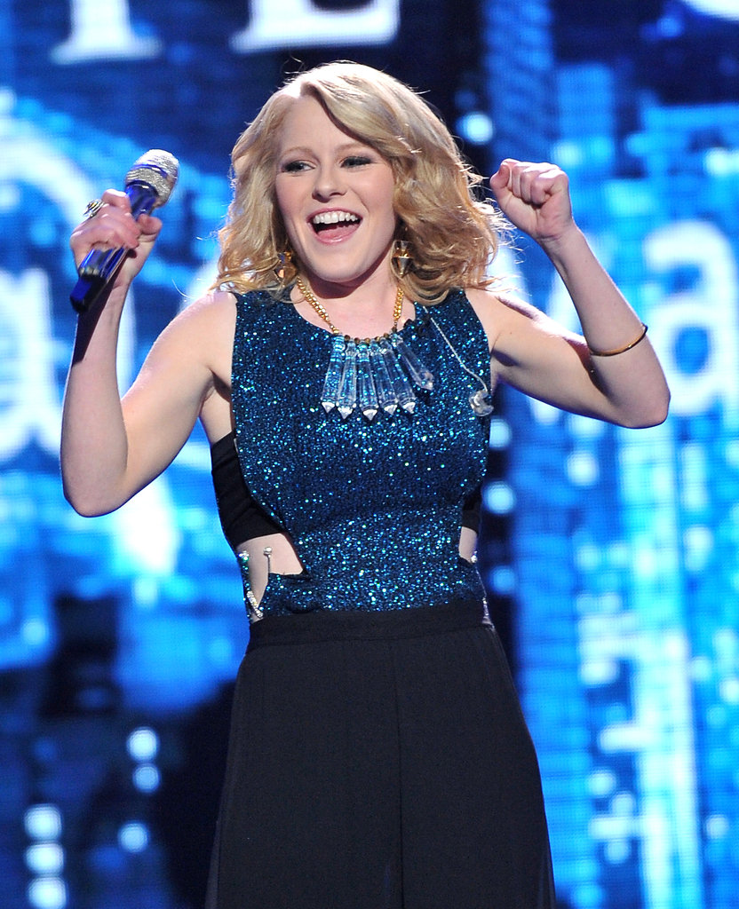 Hollie Cavanagh was excited following one of her songs.