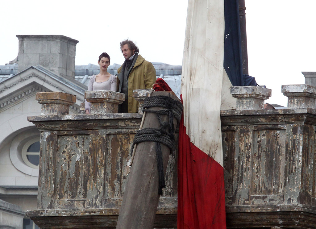 Anne Hathaway and Hugh Jackman are filming a big-screen version of Broadway hit Les Misérables.