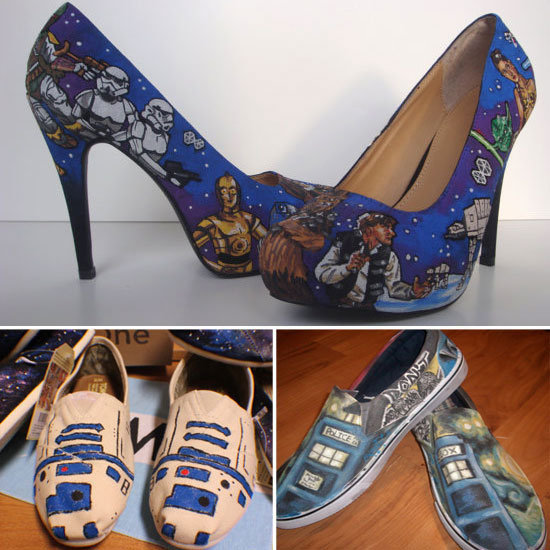 Hand-Painted Shoes For Head-to-Toe Comics Style