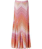 Woven pastel pink rose buds form Missoni's signature zigzag pattern in this viscose-wool blend.  Missoni Rose Multi Pastel Maxi Skirt ($1,176)