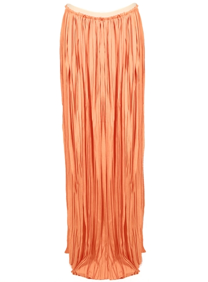 "We adore the delicious ""Mimosa"" hue on this slinky pleated maxi. Ron Herman Eight Sixty Pleated Maxi Skirt in Mimosa ($168)"