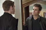 Joseph Morgan as Klaus and Paul Wesley as Stefan on The Vampire Diaries. Photo courtesy of The CW