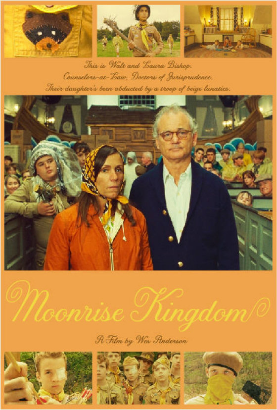 Frances McDormand and Bill Murray in Moonrise Kingdom