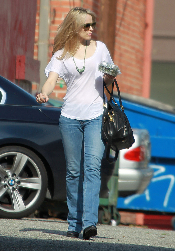 Rachel McAdams spent the day in the salon in LA.