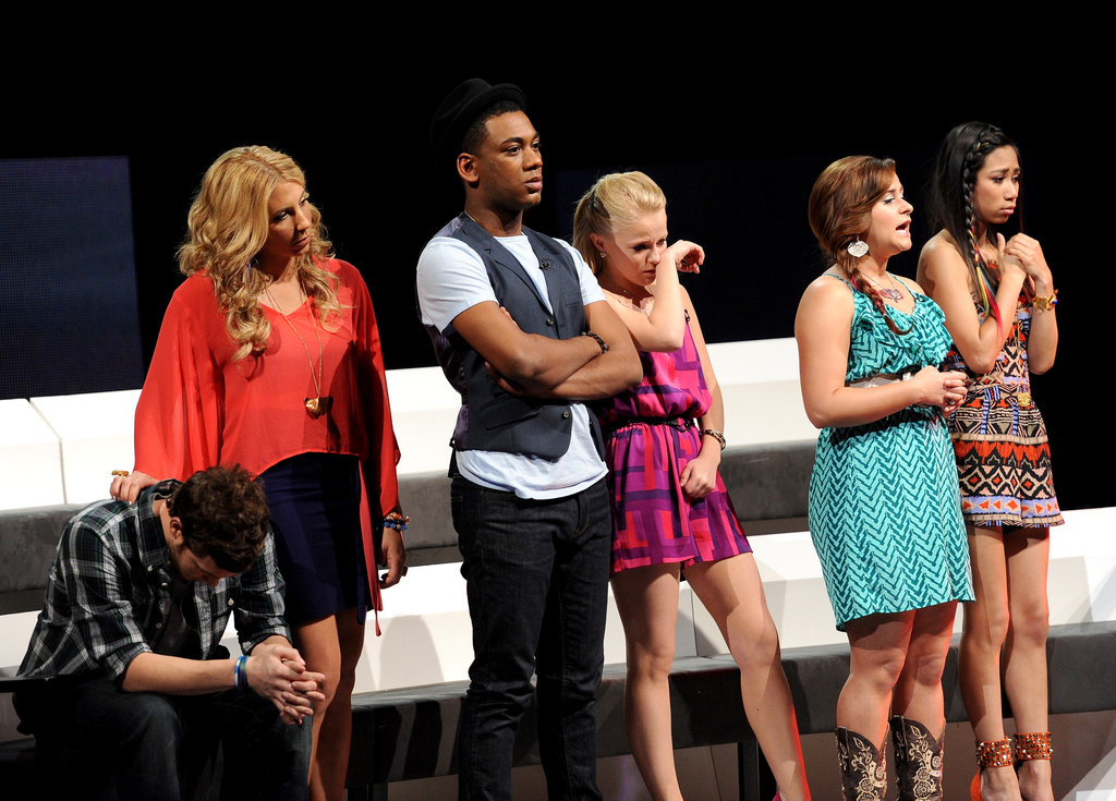 The remaining contestants looked emotional during Colton Dixon's final song.
