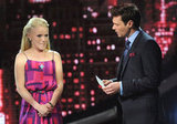 Ryan Seacrest revealed Hollie Cavanagh was in the bottom two.