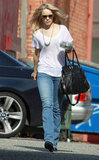 Rachel McAdams wore sunglasses and a white tee-shirt out in LA.