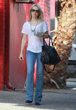 Rachel McAdams left a salon in LA.
