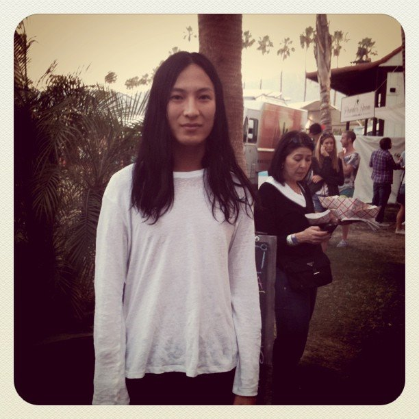 We spotted the ever-awesome Alexander Wang hanging at Coachella.