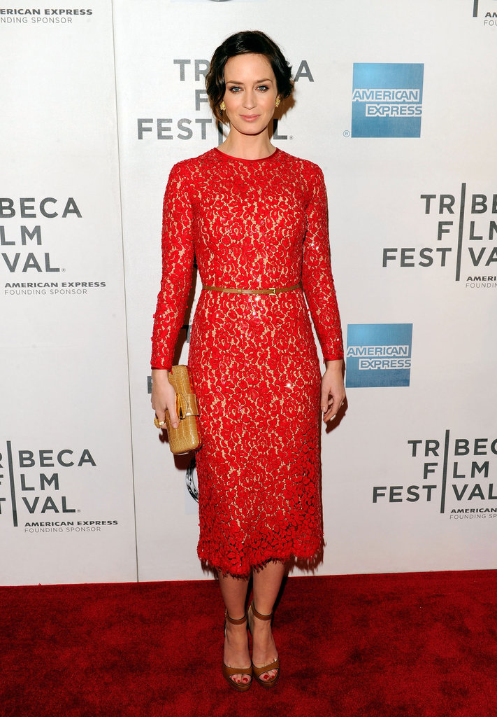Emily Blunt made a lovely arrival in Michael Kors at the Your Sister's Sister premiere at the Tribeca Film Festival.