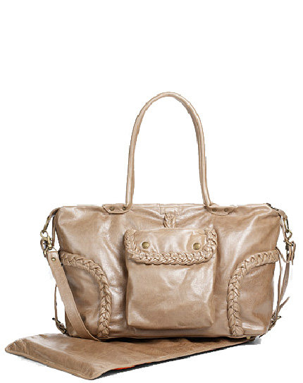 Not Rational Leather Braid-Trim Diaper Bag ($760)
