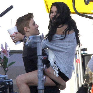 Justin Bieber and Selena Gomez PDA Music Video Set Pictures