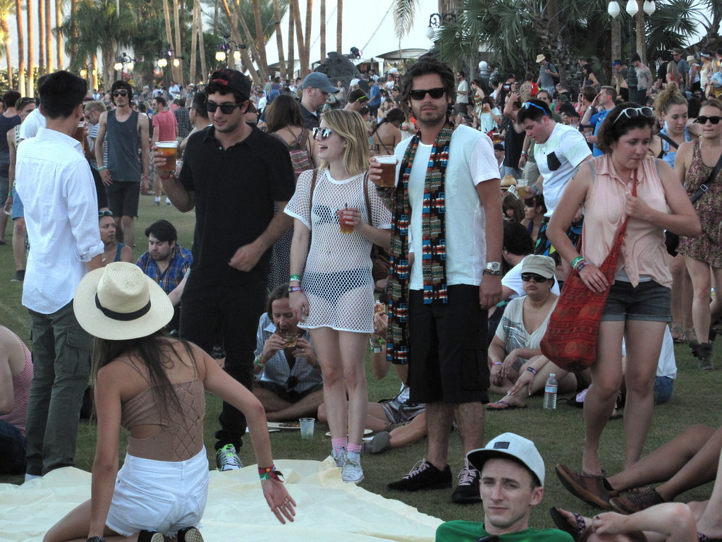 Emma Roberts hung out with friends at Coachella's second weekend.