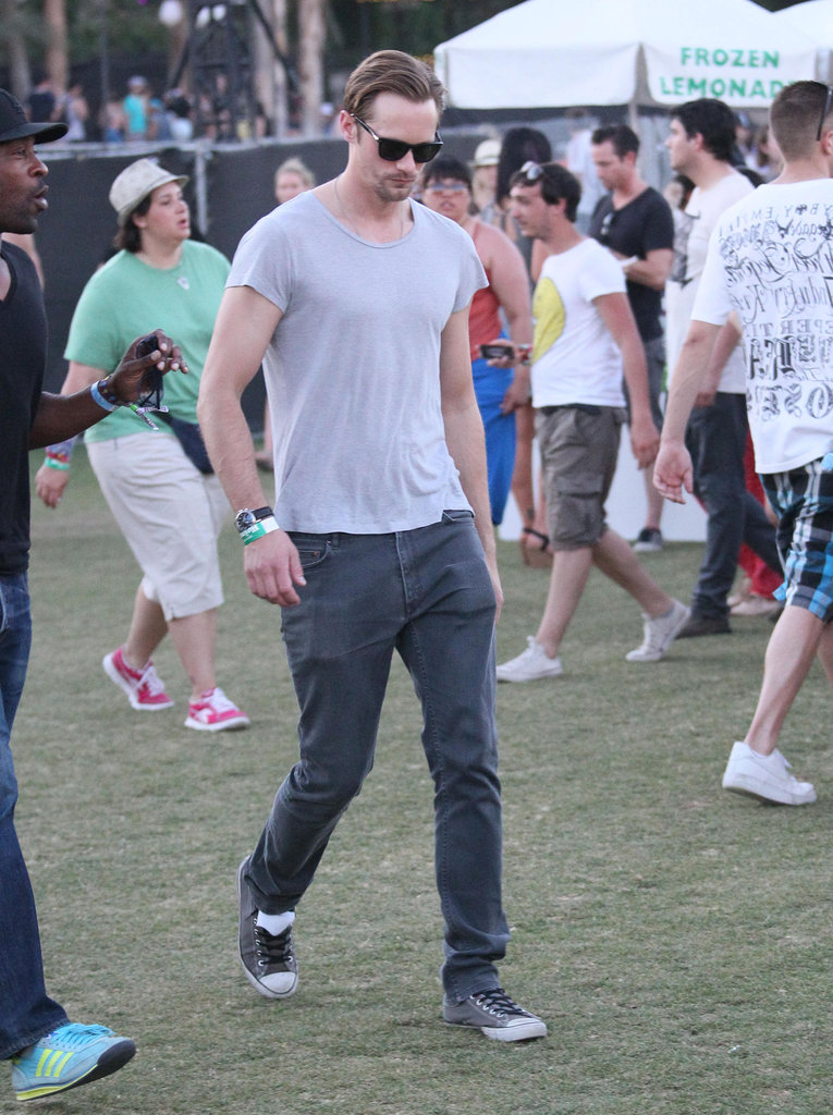 Alexander Skarsgard enjoyed the performances of Coachella's second weekend.