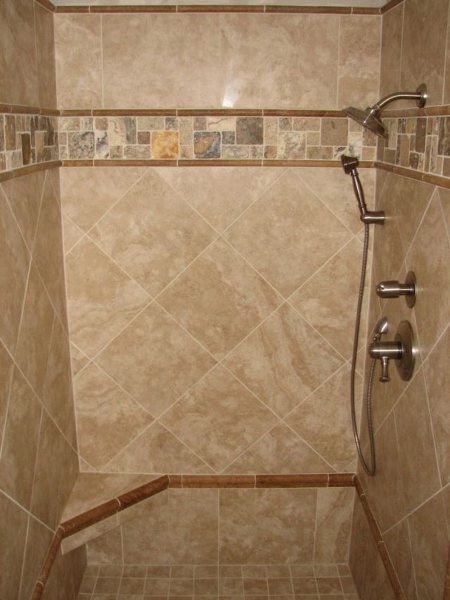 White Ceramic Tile Shower Bathroom Ceramic Tile Bathroom Designs