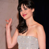 Get The Look: Zooey Deschanel's Baby Blue Nails