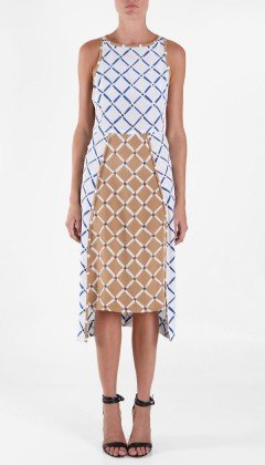 Tibi Nadia Long Sleeveless Dress ($398)