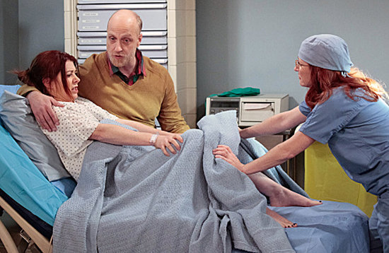 Alyson Hannigan as Lily and Chris Elliott as Mickey on How I Met Your Mother. Photo courtesy of CBS