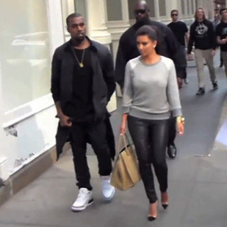 Kim Kardashian and Kanye West in New York Video