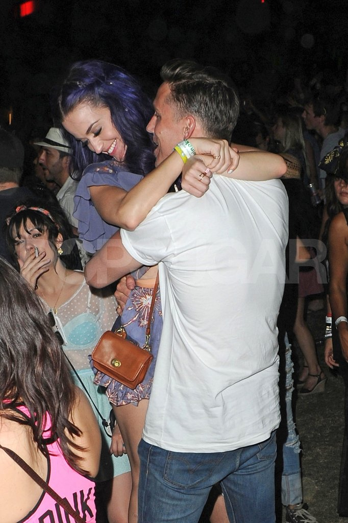 Katy Perry got close with her man at the second weekend of Coachella.