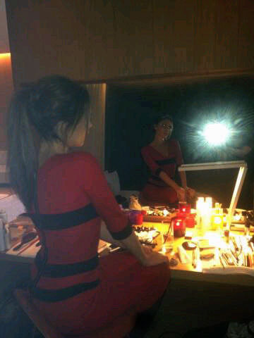 Victoria Beckham snapped a photo before heading out for the evening. Source: Twitter user victoriabeckham