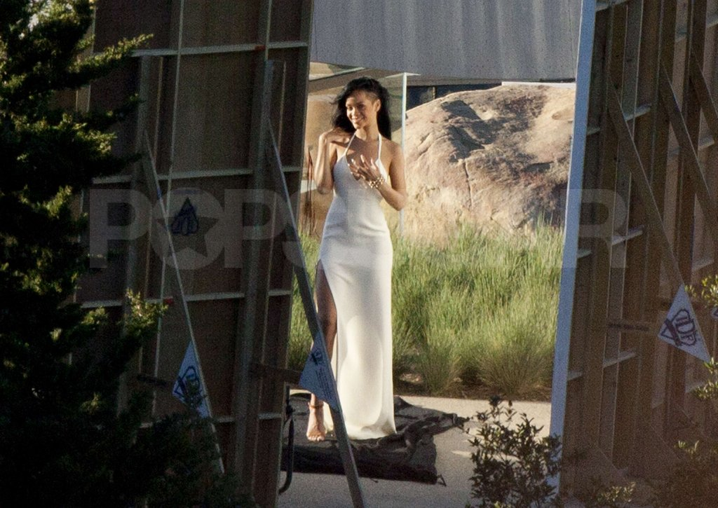 Rihanna had fun on a shoot for Harper's Bazaar in Malibu.